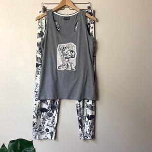 Star Wars | Luke and Leia Graphic Pajama Set Large